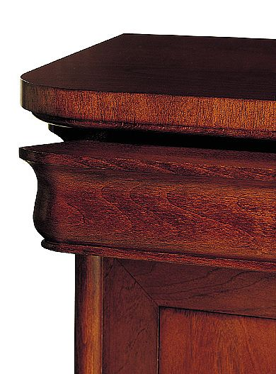 Classic curved Bedside table
