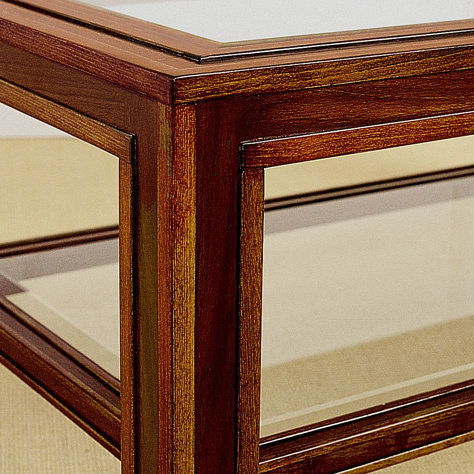 Coffee Table With Two Glass Shelves