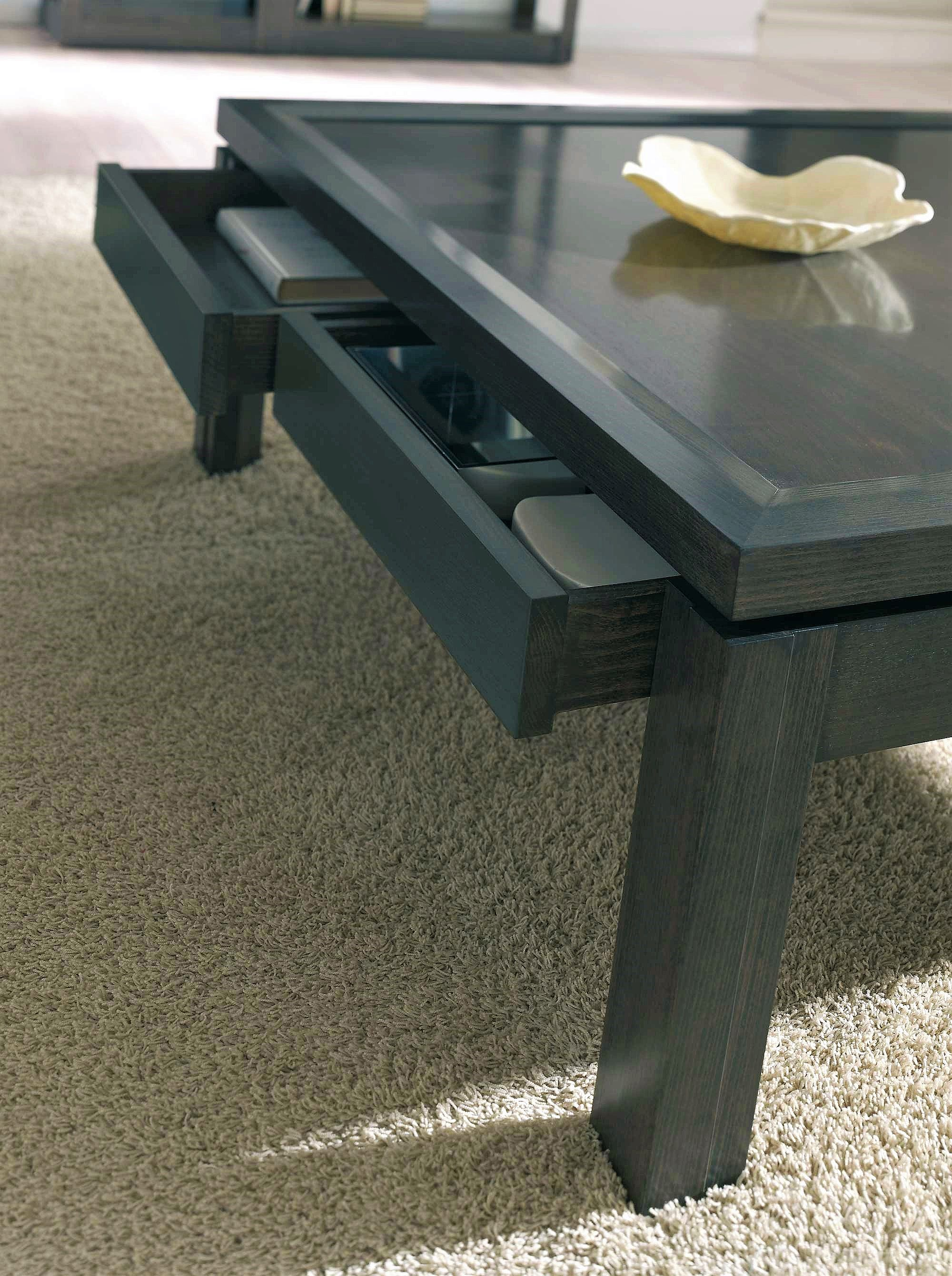 - Contemporary Coffee Table Of Two Drawers