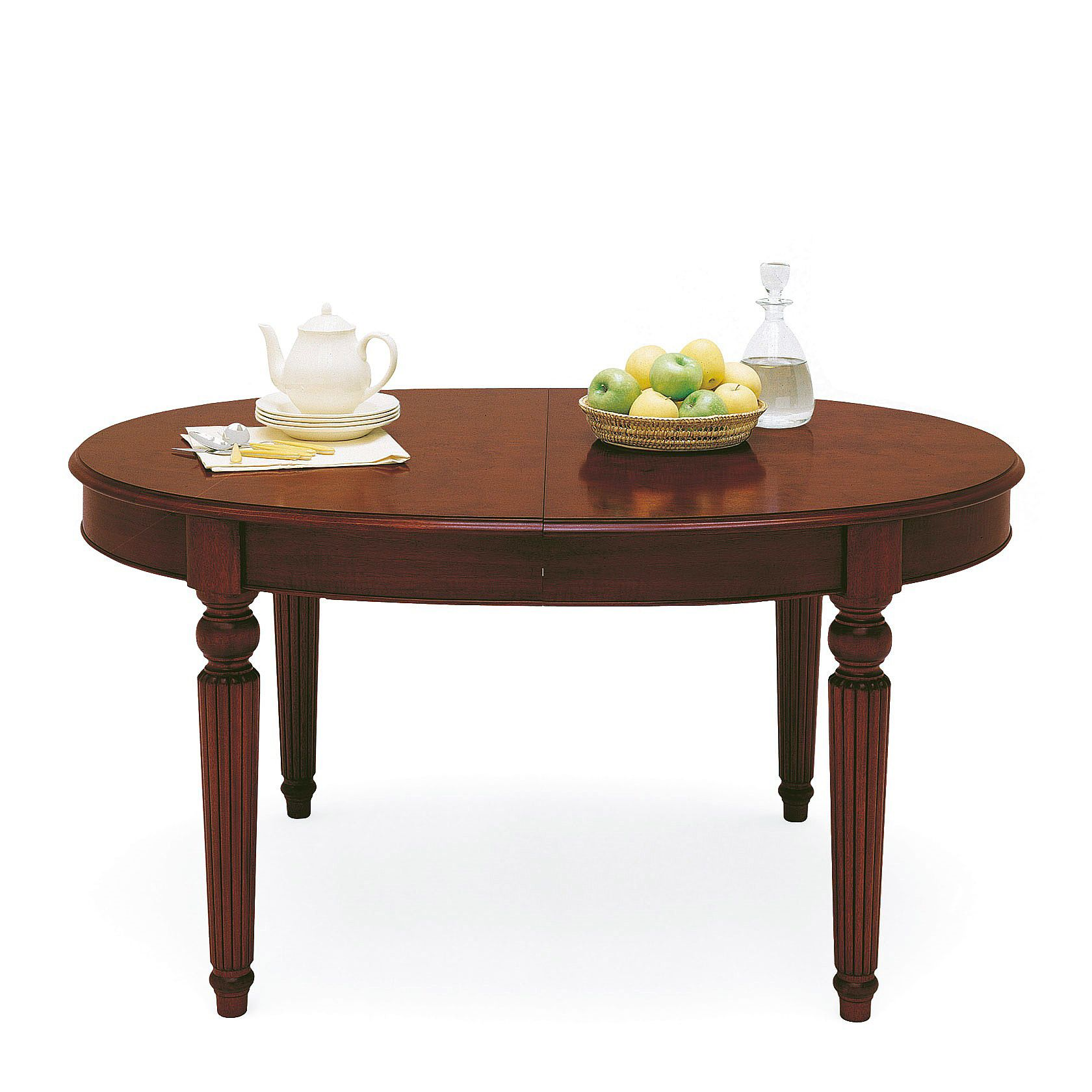 Solid Wood Dining Room Table Classic Oval Extendable Dining Table