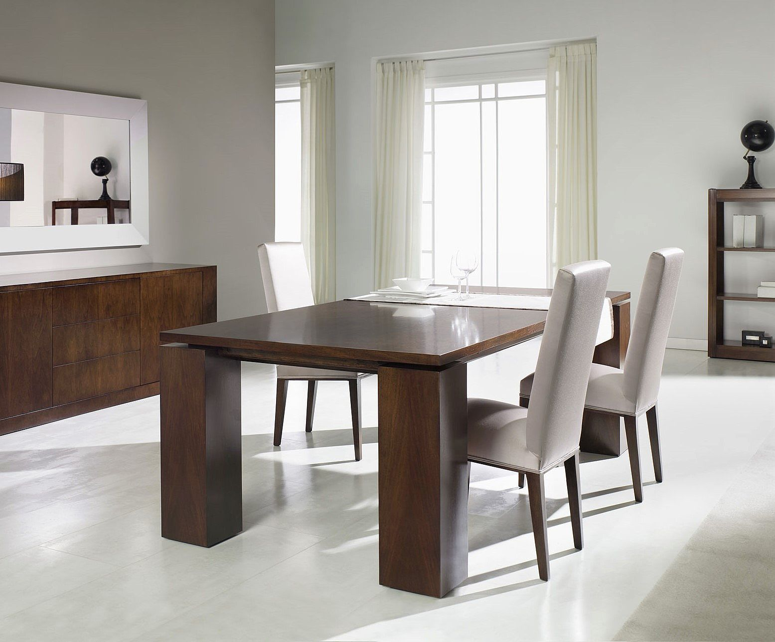 Contemporary extendable Dining table T-851