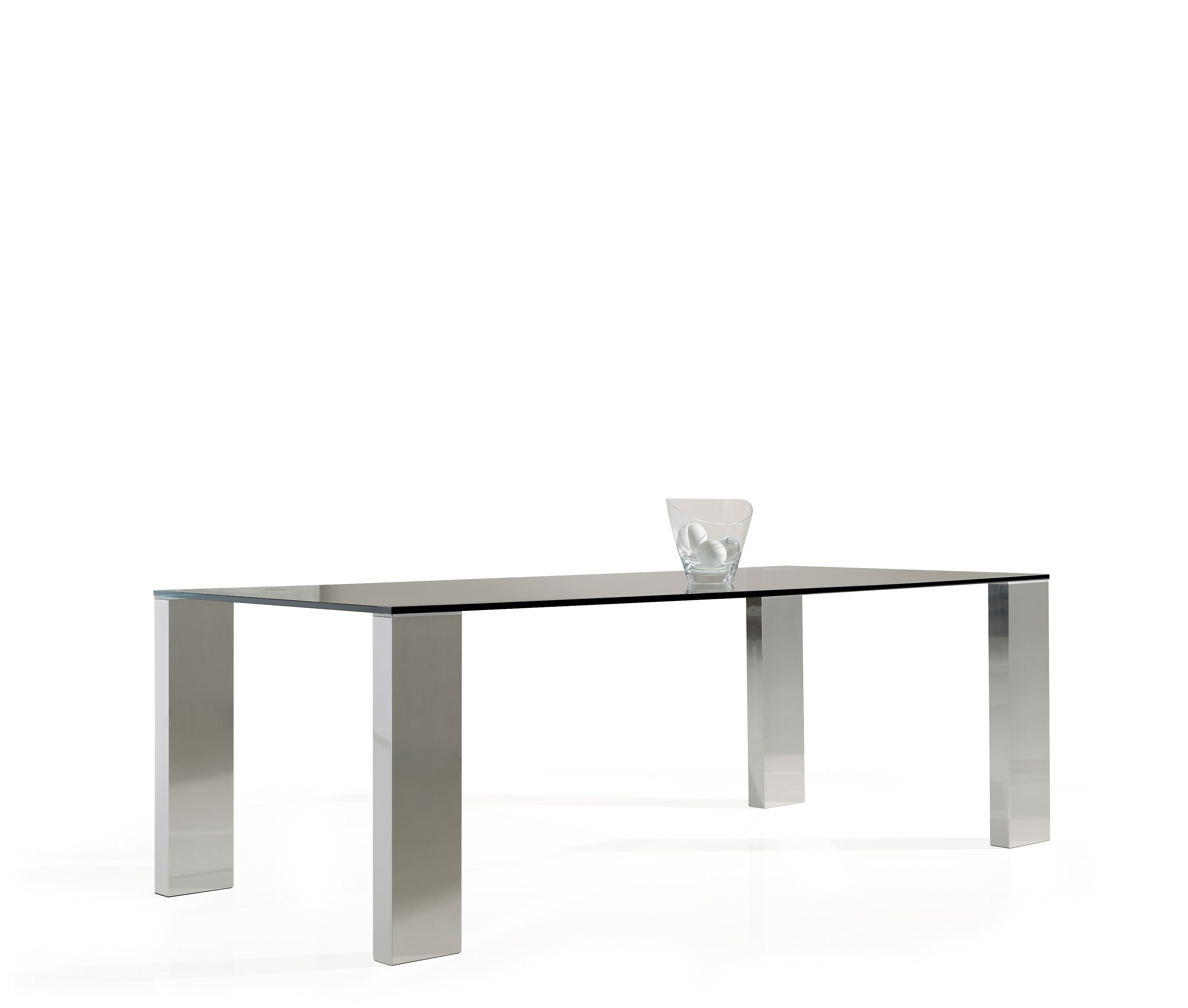 dining table stainless steel inox and glass. Black Bedroom Furniture Sets. Home Design Ideas