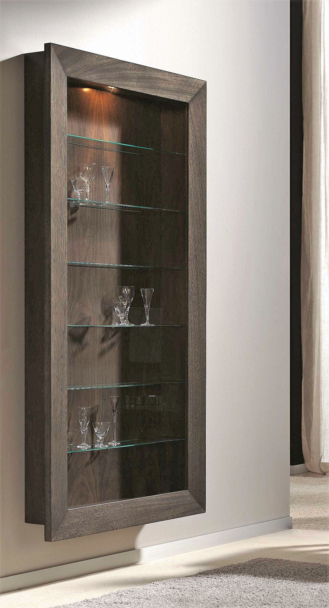 Shallow Depth Wall Hanging Display Cabinet