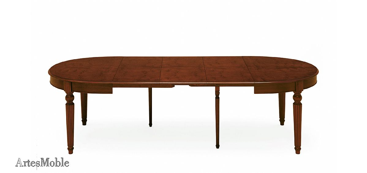 Mesa de comedor cl sica ovalada y extensible - Mesas de comedor pequenas y extensibles ...