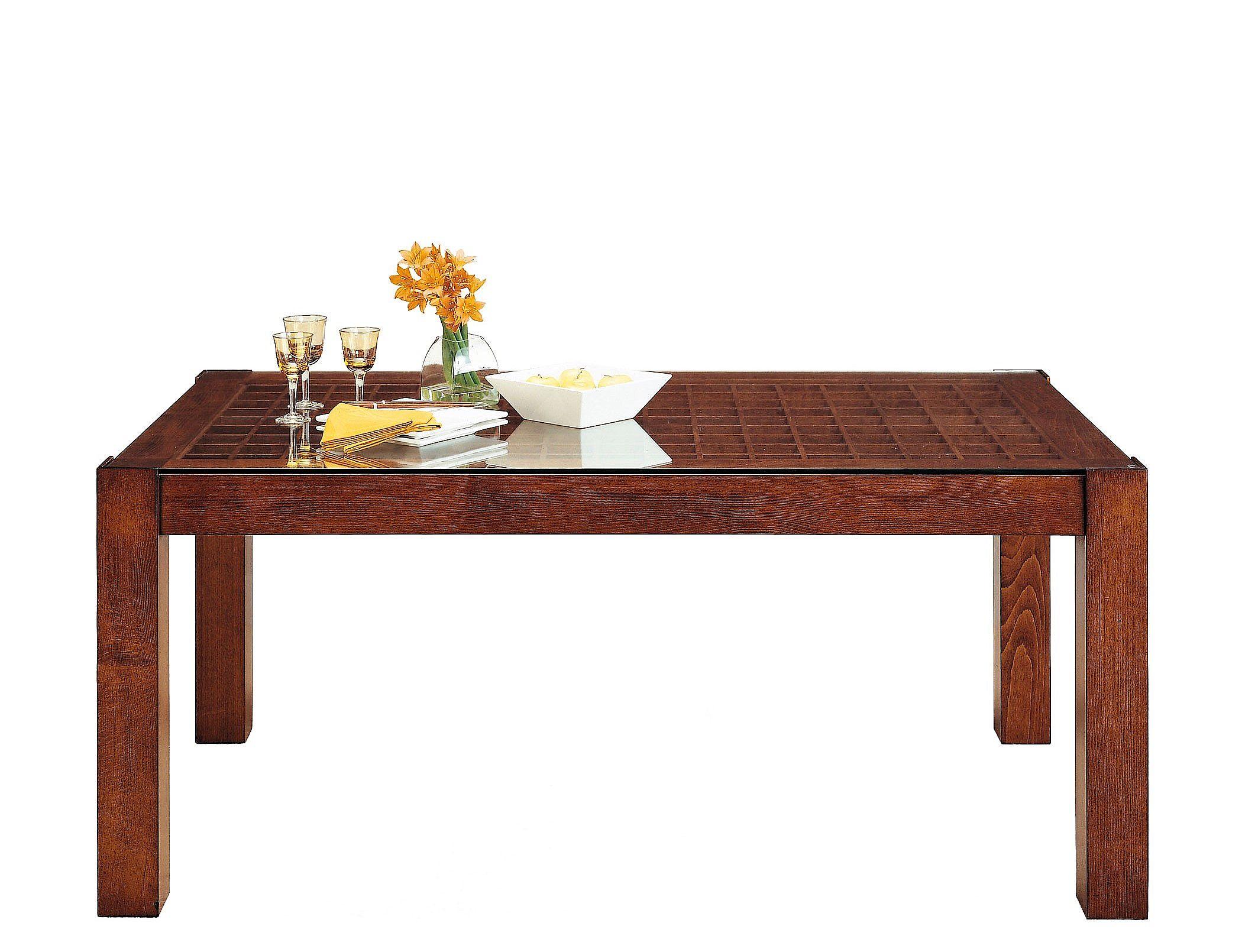 Mesa comedor en nogal extensible y con caj n alta decoraci n t663 - Mesa alta comedor ...