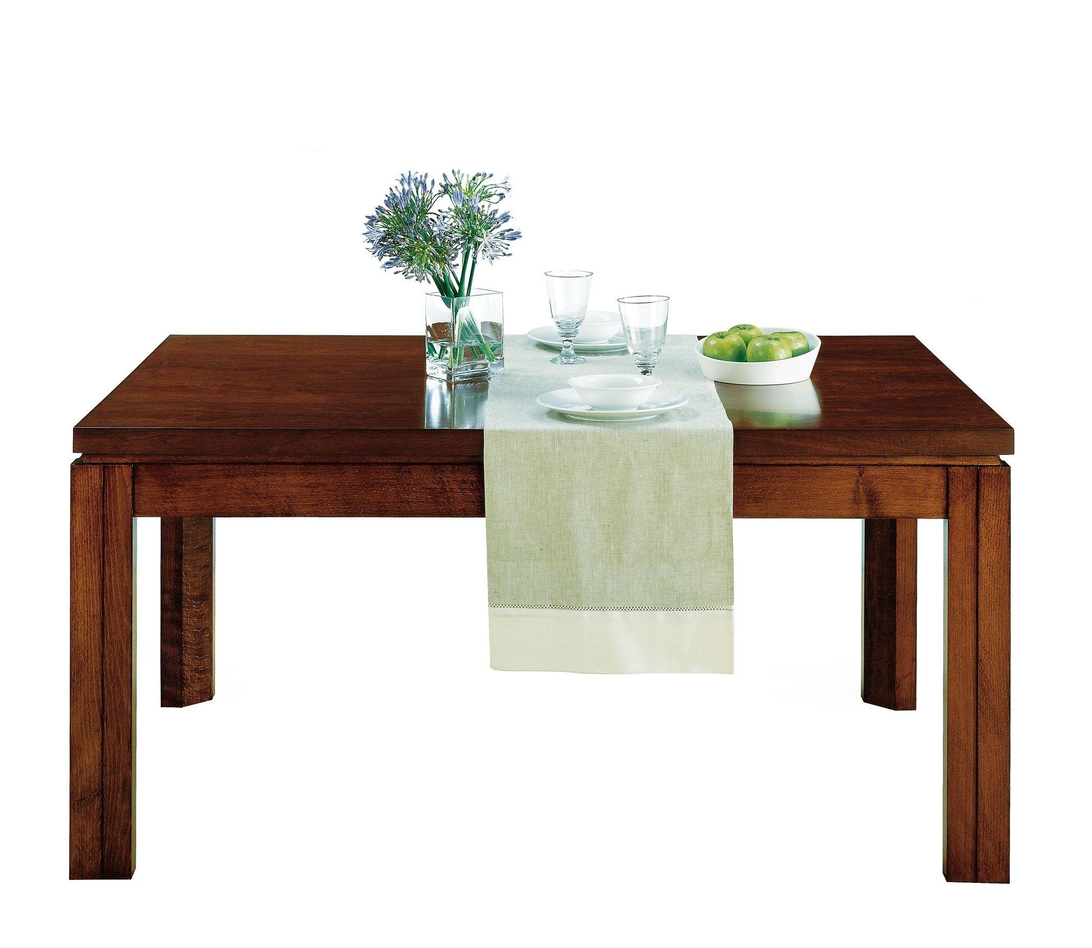 Mesa comedor en nogal extensible y con caj n alta decoraci n - Mesa alta comedor ...
