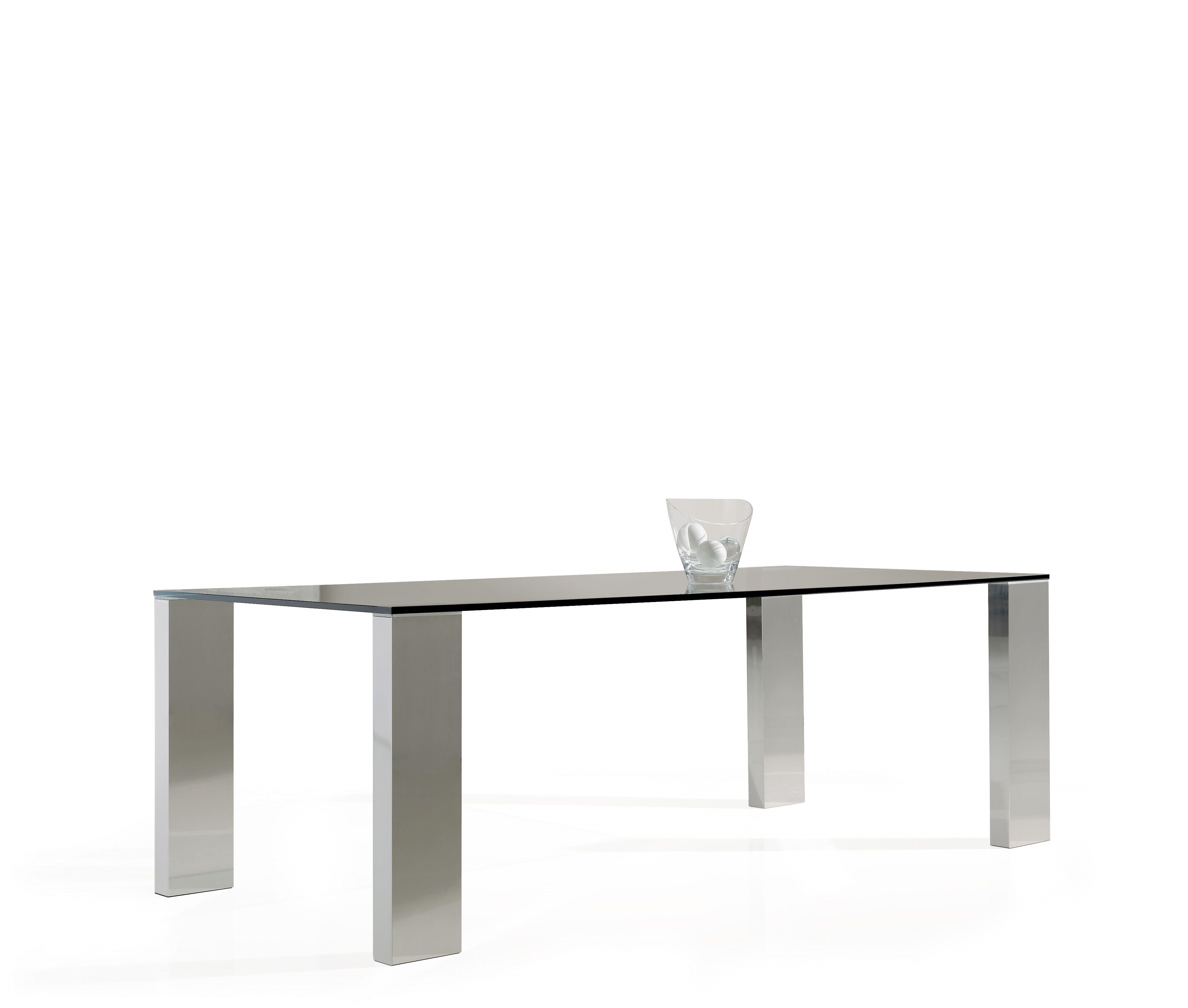 Genial mesa comedor cristal y acero fotos mesa comedor de - Mesas comedor cristal y acero ...