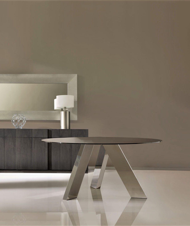 Mesa de comedor redonda con acero - Salon comedor con mesa redonda ...