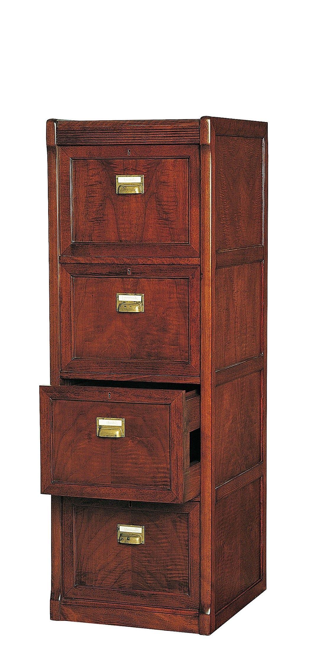 Mueble archivador vertical cl sico for Muebles escritorios clasicos