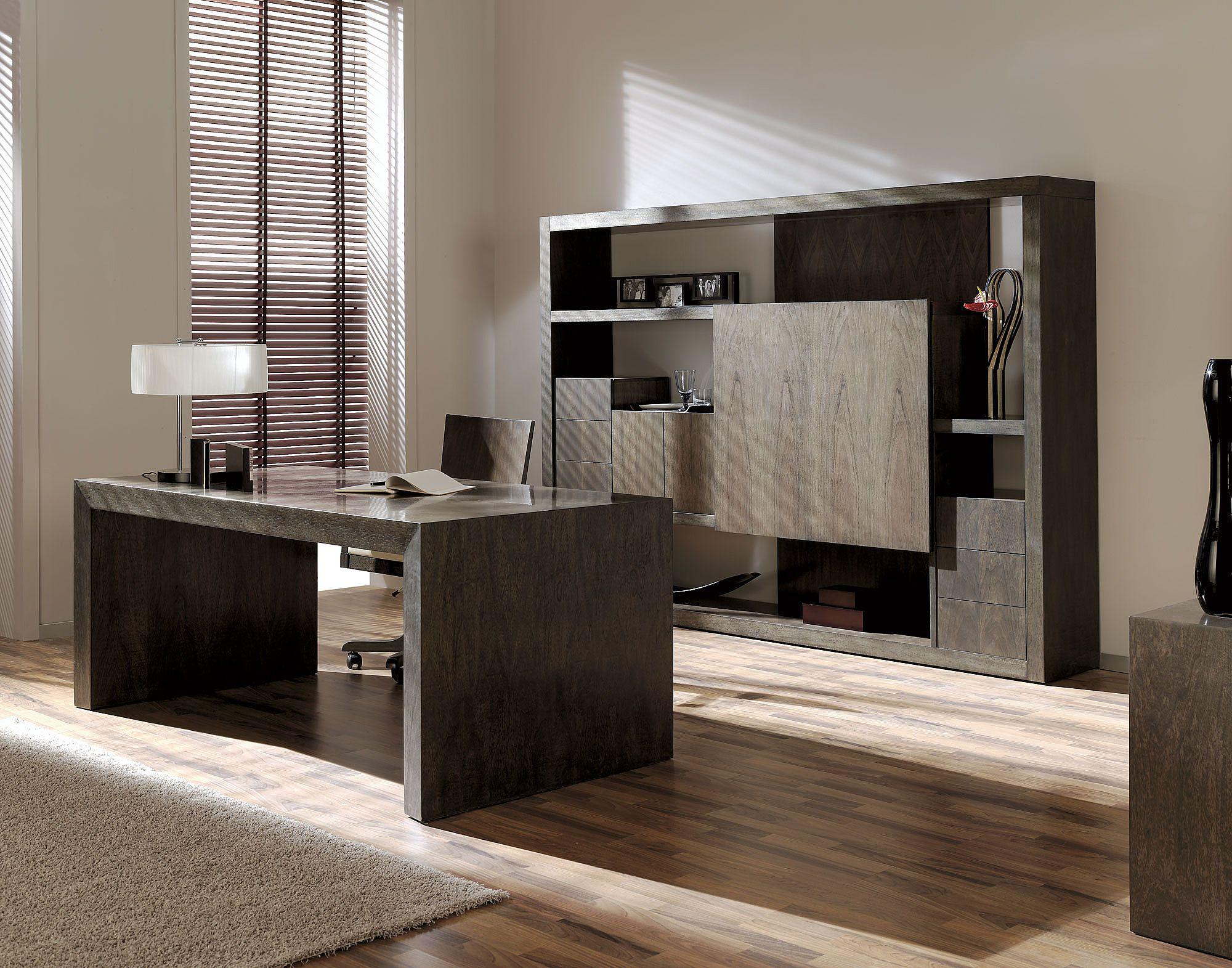 Mesa de despacho de dise o en nogal alta decoraci n - Mesas de despacho ...