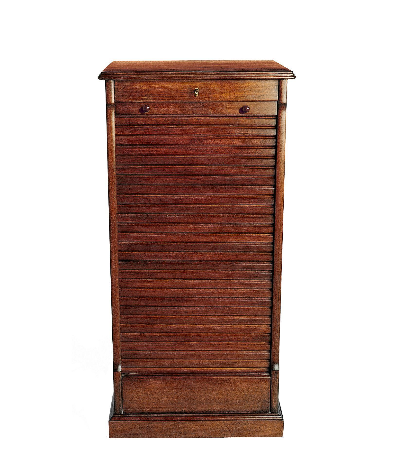 Filing Cabinet Wood Roller Blind Door