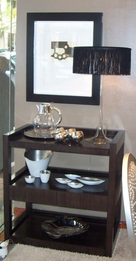 Tea Trolley Table With Drawers