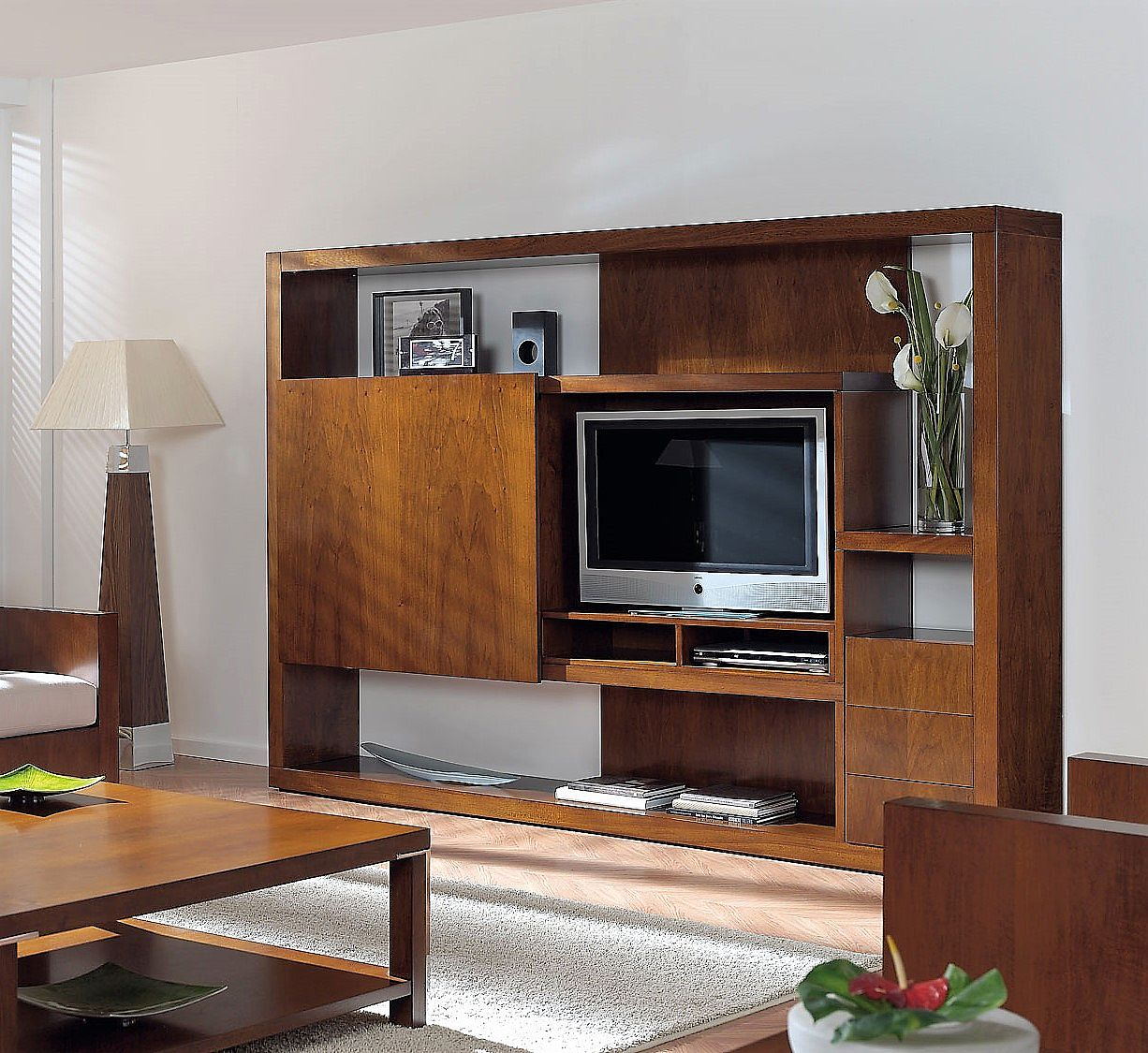 Modern Tv Modular Shelving Unit