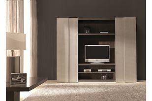Modular TV Unit With Sliding Doors